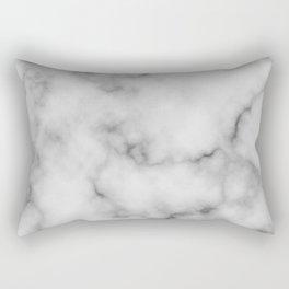 White Marble Pattern Rectangular Pillow