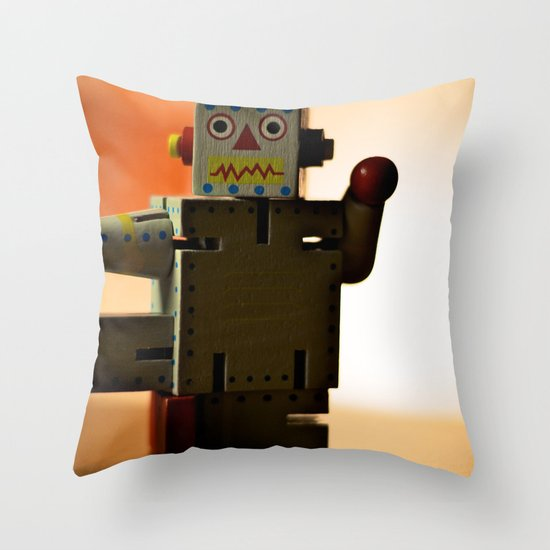 Kung Fu Robot Throw Pillow