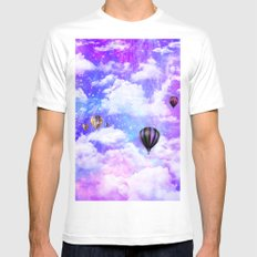 Hot air balloons White Mens Fitted Tee MEDIUM