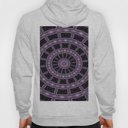 Eggplant and Pale Aubergine Kaleidoscope Pattern Hoody
