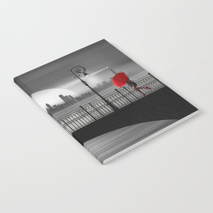 The bridge in the summer rain Notebook