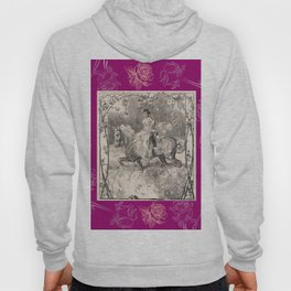 Roses & Girl riding a horse Hoody