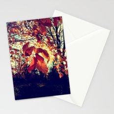 Orange Leafs Stationery Cards