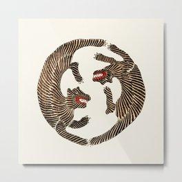 Vintage Japanese Tiger design Metal Print