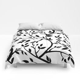 Black Trees on White Comforters
