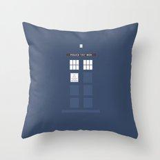 Tardis ( Doctor Who ) Throw Pillow