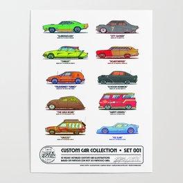Custom Car Collection Set 001 Poster