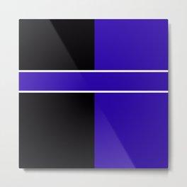 Team Colors 6...Blue,black Metal Print