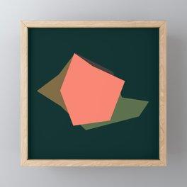 Abstract flower minimalist Framed Mini Art Print