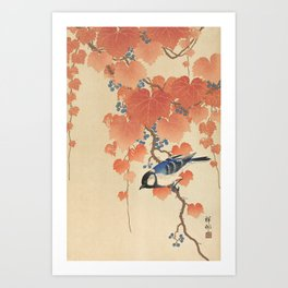 Ohara Koson - Japanese Bird Blockprint Art Print