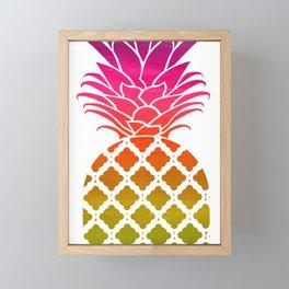 Rainbow Pineapple Framed Mini Art Print