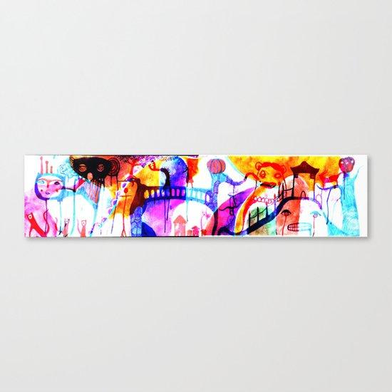 trip down bizarre lane Canvas Print