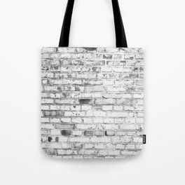 Withe brick wall Tote Bag