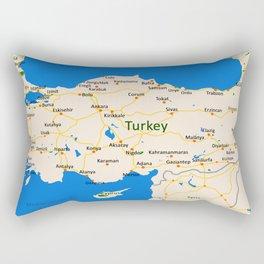 Turkey Map Design Rectangular Pillow