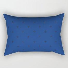 Crosses on Navy Blue Rectangular Pillow