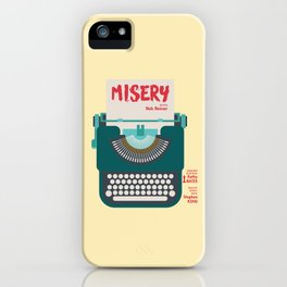 Misery, Horror, Movie Illustration, Stephen King, Kathy Bates, Rob Reiner, Classic book, cover iPhone Case