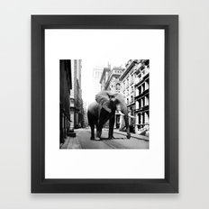 Street walker II Framed Art Print