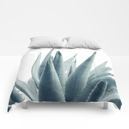 Agave Blue Vibe #1 #tropical #decor #art #society6 Comforters