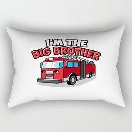 Fire Engine Truck Big Brother Fireman Present Son Rectangular Pillow