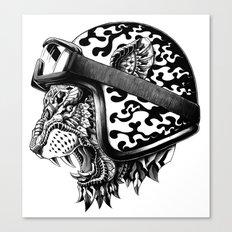 Tiger Helm Canvas Print