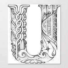 U letter Canvas Print