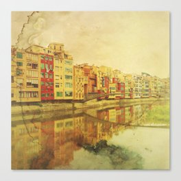 The river that reflects the city Canvas Print