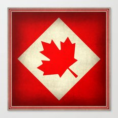 Canada flag, grunge treated edition in square format Canvas Print