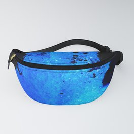 Snow Crystal Blue Fanny Pack