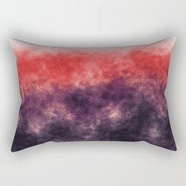 Orange landscape with purple moon Rectangular Pillow