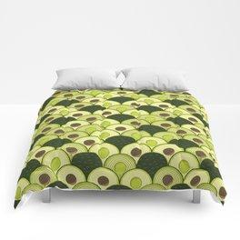 avocados in art deco Comforters