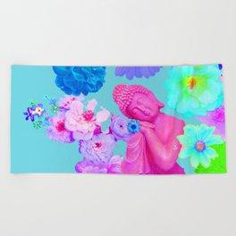 Pink Buddha Beach Towel