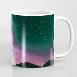 Night Sky Star Landscape - Purple Turquoise Coffee Mug