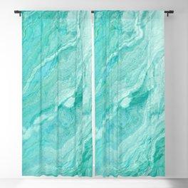 Azure marble Blackout Curtain