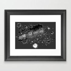 Space Train Framed Art Print