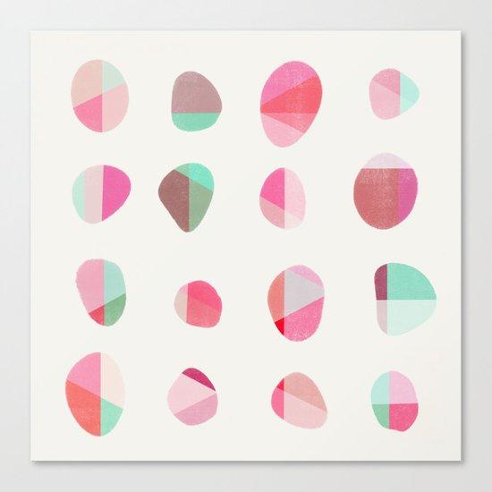 Painted Pebbles 6 Canvas Print