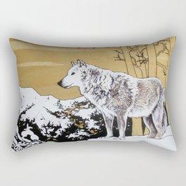 Teton Wolf Rectangular Pillow