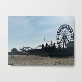 """""""Old Orchard Beach Silhouette"""" Photography Metal Print"""