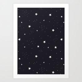 stars pattern Art Print
