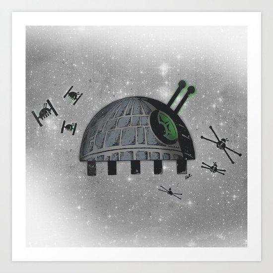 Death Star Bug Art Print