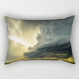 Supercell - Massive Storm Over the Great Plains Rectangular Pillow