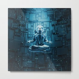Astro Lotus Metal Print