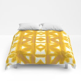 Yellow Pima Shibori Comforters