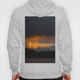 October Cloudy Sunset #decor #buyart #society6 Hoody
