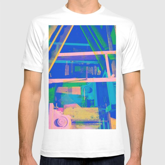 Industrial Abstract Blue 2 T-shirt