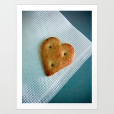 Heart Cookie  Art Print