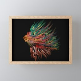 Abstract Lion's Head Framed Mini Art Print
