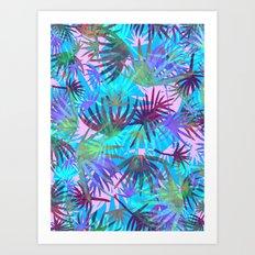 Tropicana - Blue Art Print