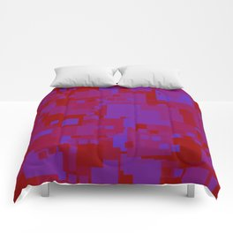 blue on red Comforters
