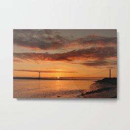 Humber Bridge Sunrise Metal Print