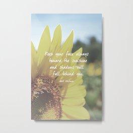 Sunflower Inspiration Print Metal Print